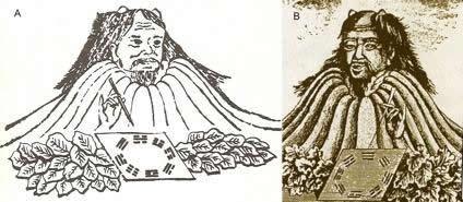 Fu Xi Montagne hexagrammes