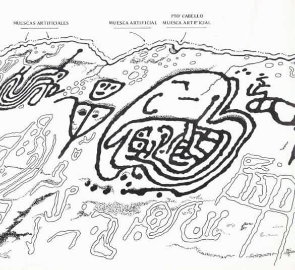 Arte rupestre lenguaje plastico mito petroglifo Falcon Venezuela